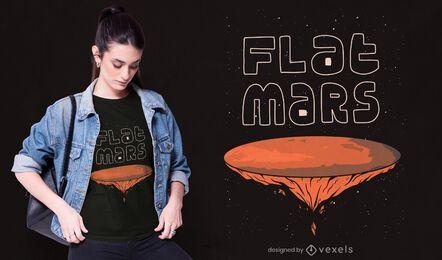 Diseño de camiseta plana marte
