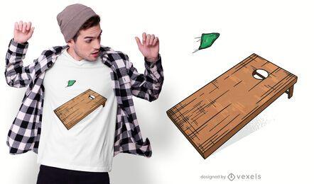 Diseño de camiseta de tablero Cornhole