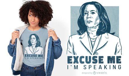 Design de camiseta com as citações de Kamala