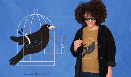 Design de t-shirt Blackbird