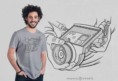 Design de t-shirt Focus puller