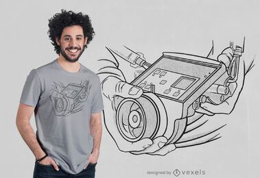 Focus puller t-shirt design