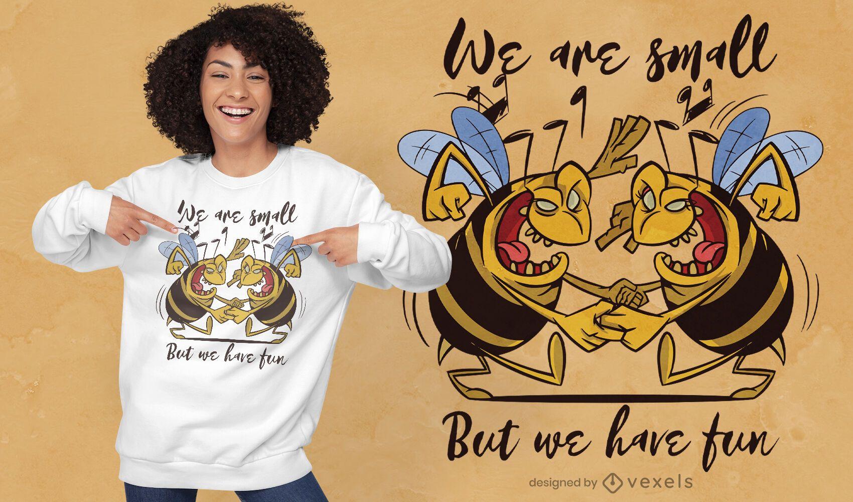Bees dancing t-shirt design