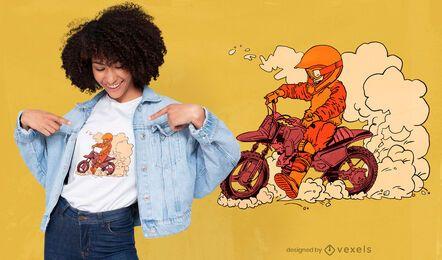 Design de camiseta infantil para motociclistas
