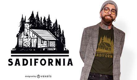 Design de camiseta da Sadifornia