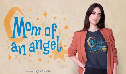 Diseño de camiseta angel mom