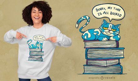 Meu tempo está reservado design de camisetas