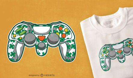 Diseño de camiseta de controlador de st patricks