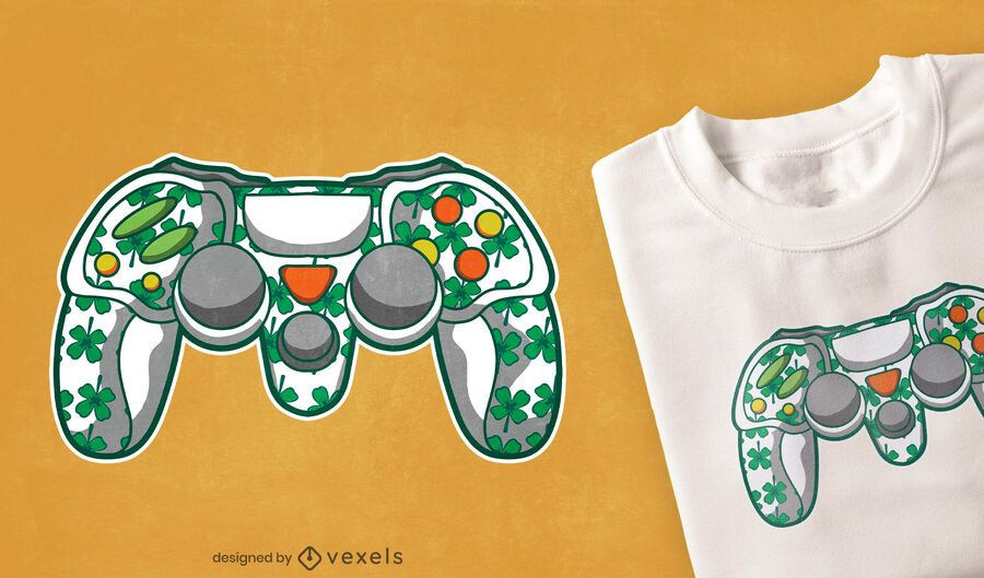 St Patricks Controller T-Shirt Design