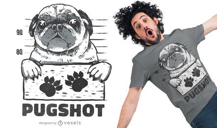 Design de t-shirt Pugshot
