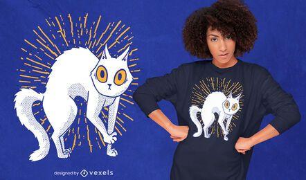 Design de t-shirt de gato lúdico