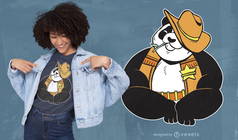 Sheriff panda t-shirt design