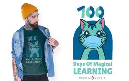 Diseño de camiseta de aprendizaje mágico.