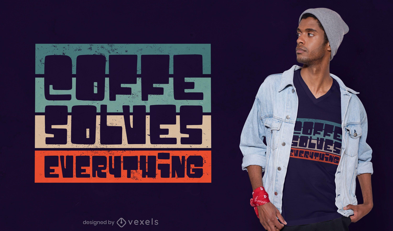 Retro coffee t-shirt design