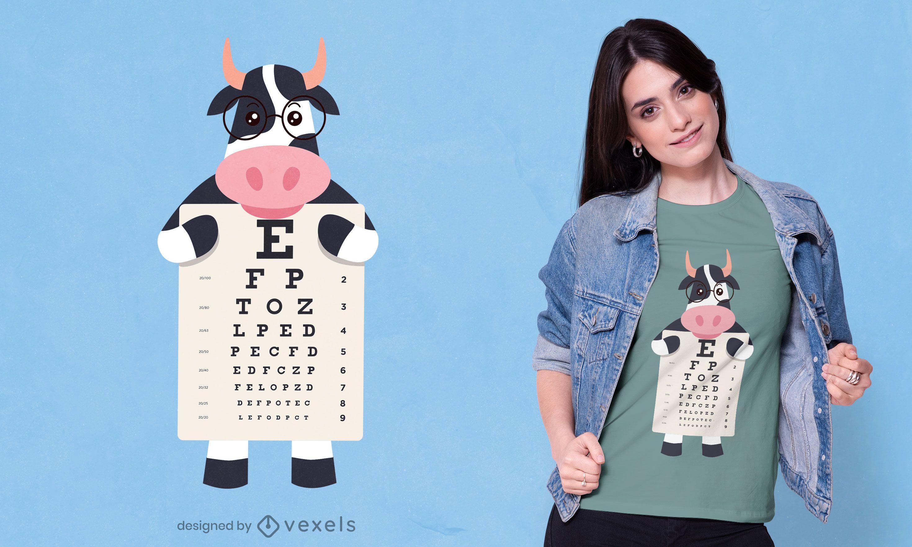 Cow eye chart t-shirt design