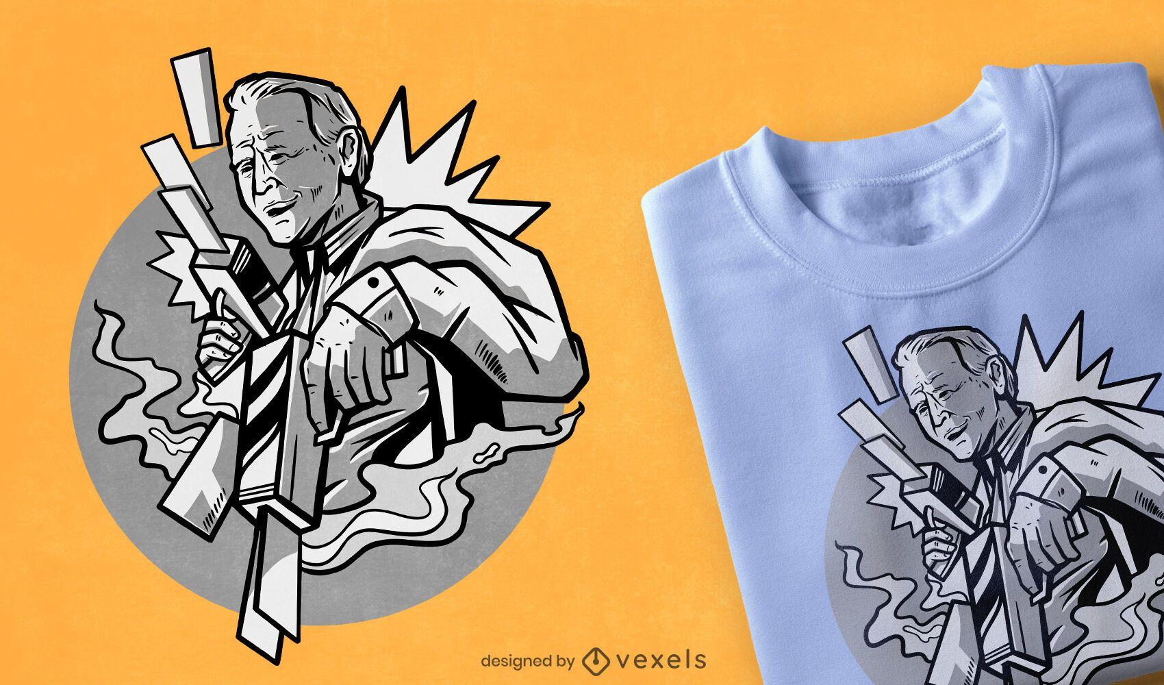 Diseño de camiseta Biden Money Gun