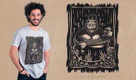 Diseño de camiseta big foot st patricks