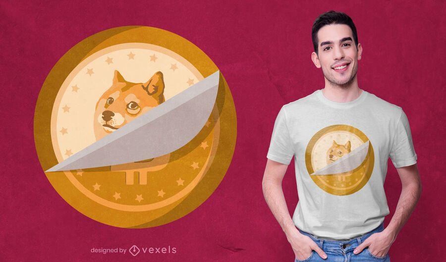 Diseño de camiseta Dogecoin