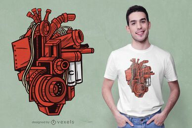 Mechanisches Herz-T-Shirt-Design