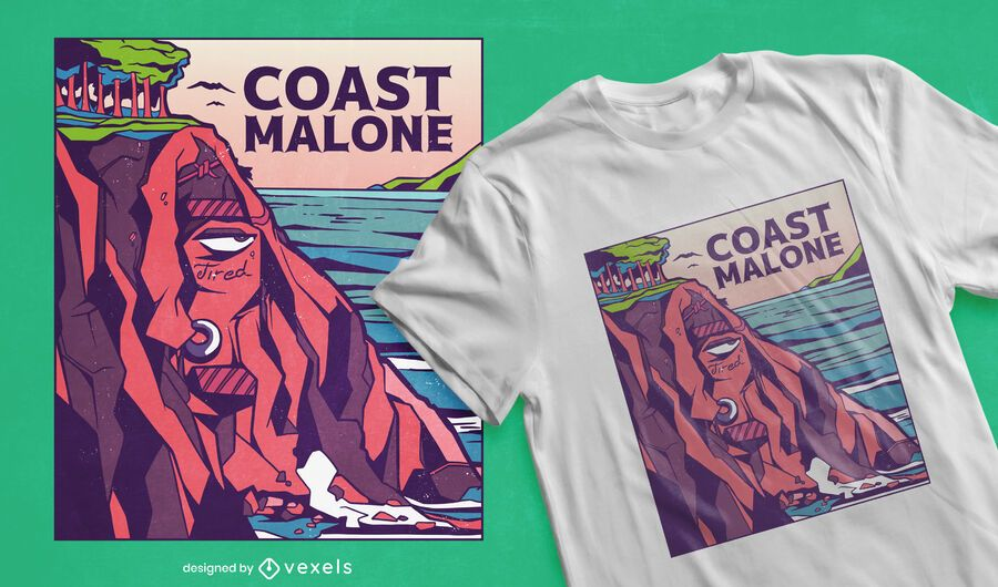 Diseño de camiseta de costa malone