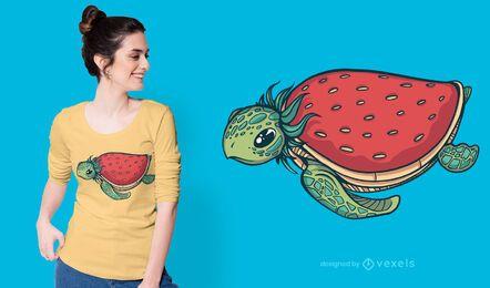 Design de t-shirt de tartaruga morango