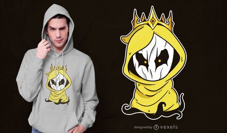Design de t-shirt King hastur chibi