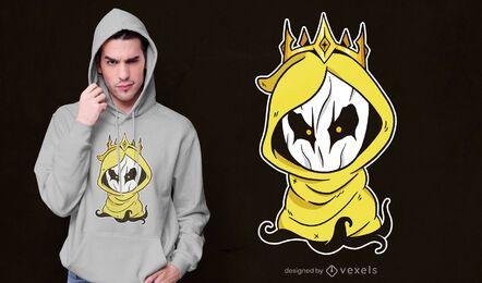 Diseño de camiseta king hastur chibi