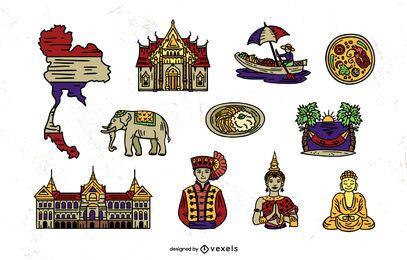 Conjunto de elementos de Tailandia
