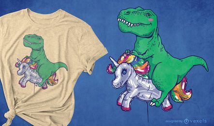 T-Rex Reitballon T-Shirt Design
