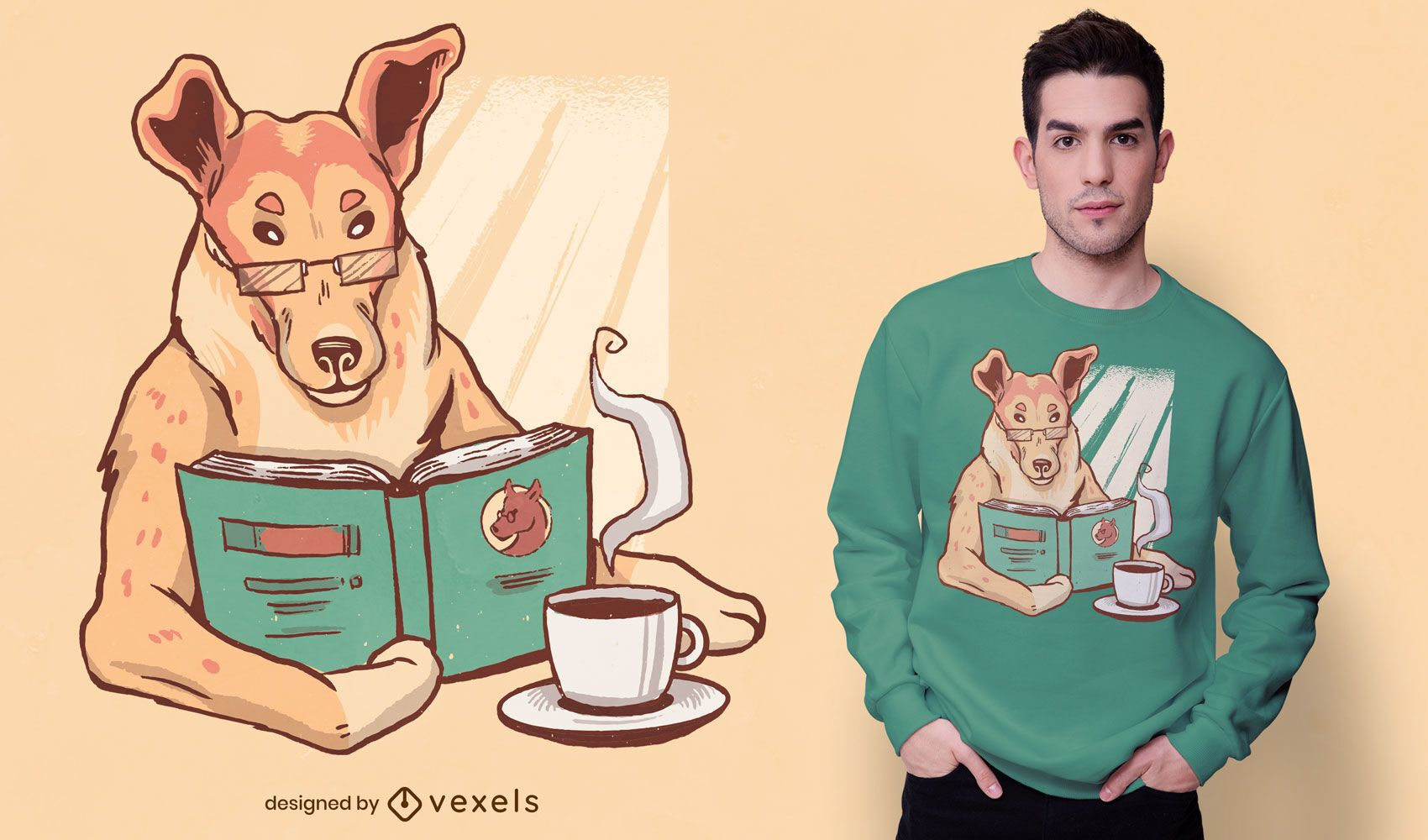 Smart collie t-shirt design