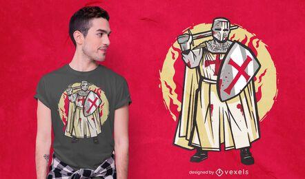 Diseño de camiseta cruzada