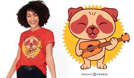 Mops Gitarrist T-Shirt Design