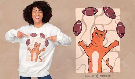 Juggling cat t-shirt design