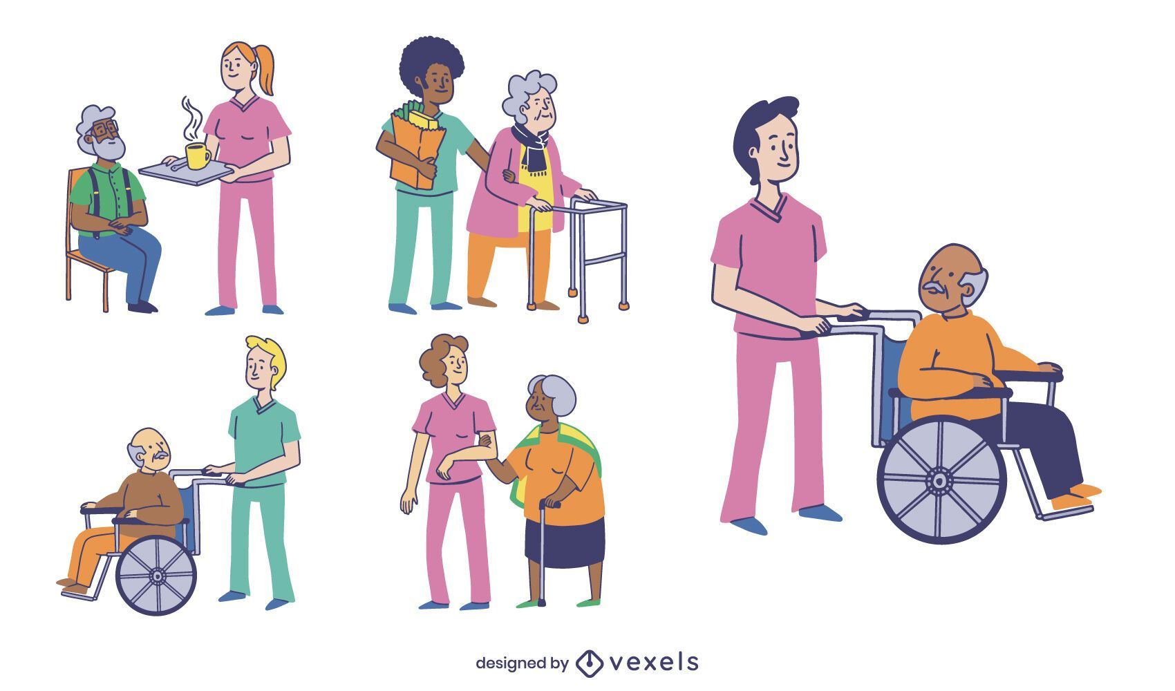 Geriatric nurses people set