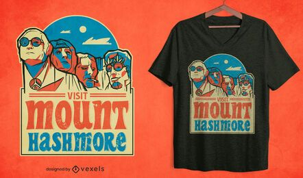 Mount hashmore t-shirt design