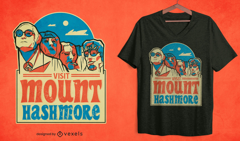 Diseño de camiseta de Mount Hashmore
