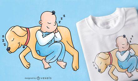 Diseño de camiseta de bebé labrador.