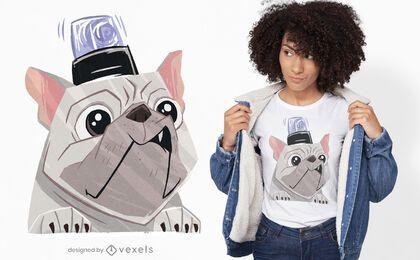 Diseño de camiseta de perro de emergencia.