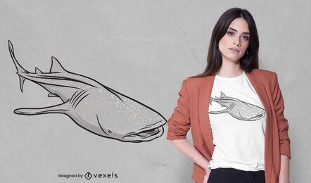 Diseño de camiseta de tiburón ballena