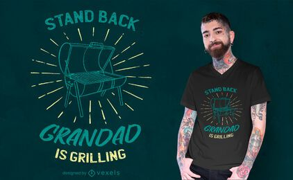 Grandad is grilling t-shirt design