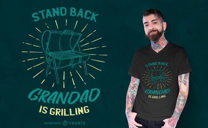 Grandad is grilling t-shirt design
