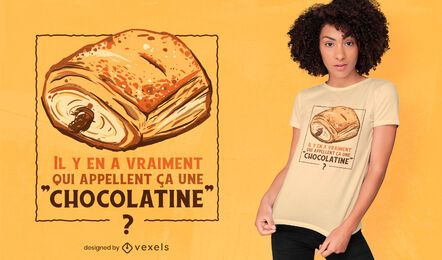 Design de camiseta Pain au chocolat