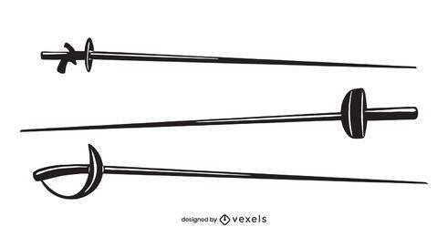 Fencing swords set