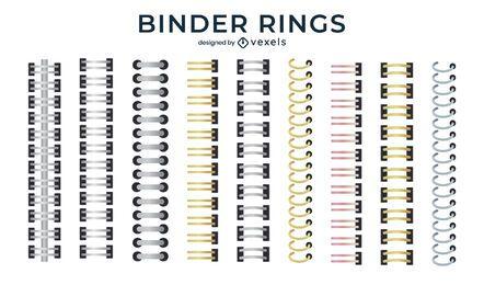Binder rings set