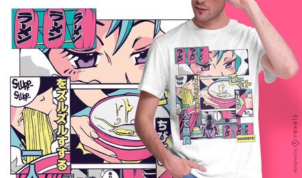 Ramen shop anime t-shirt design