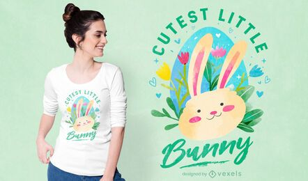 Cutest little bunny t-shirt design