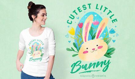 Diseño de camiseta de conejito más lindo