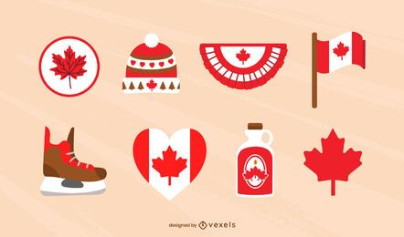Canadian elements flat set