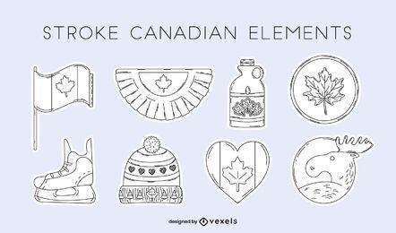Conjunto de elementos canadenses