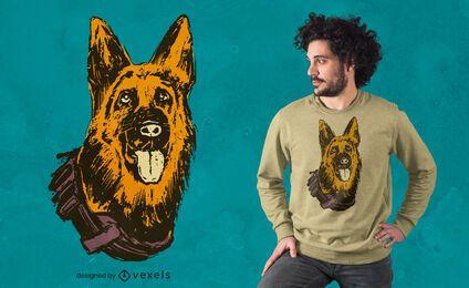 Design de camiseta para cães K-9
